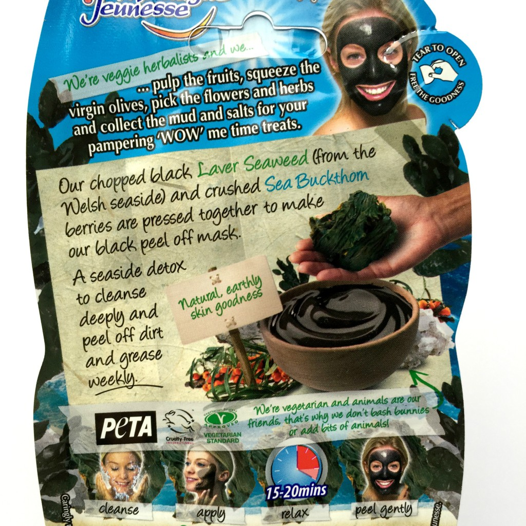 Montagne Jeunesse Black Seaweed Peel Off Face Mask Back