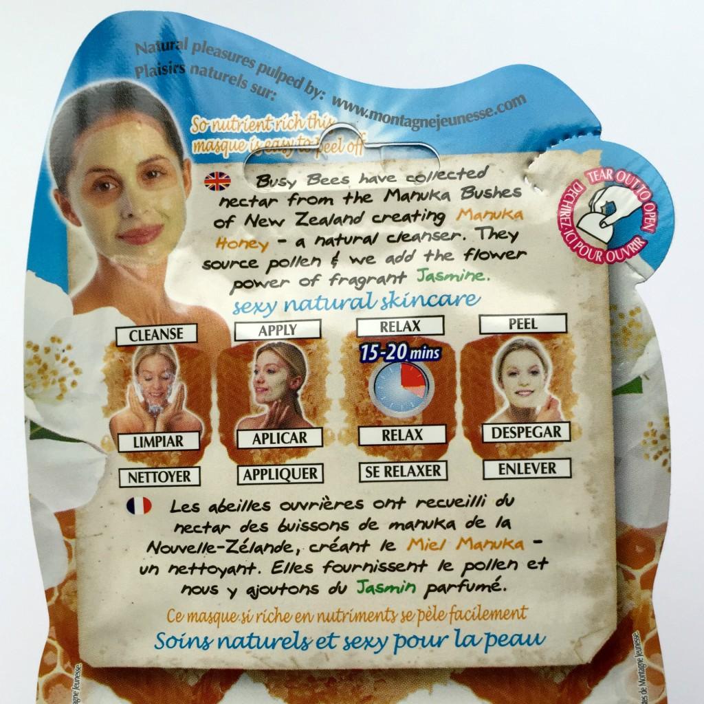 Manuka Honey Face Mask - back