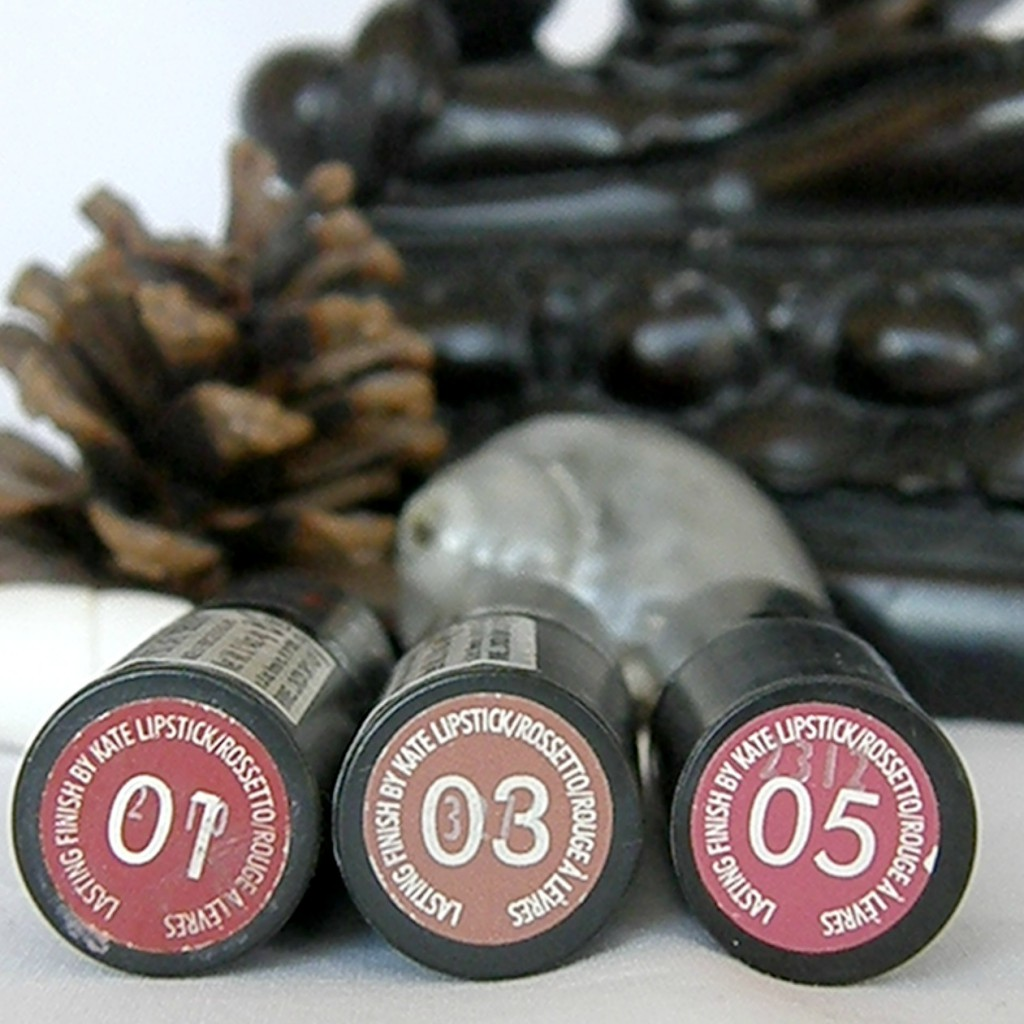 Rimmel Lasting Finish by Kate in 01, 03 and 05