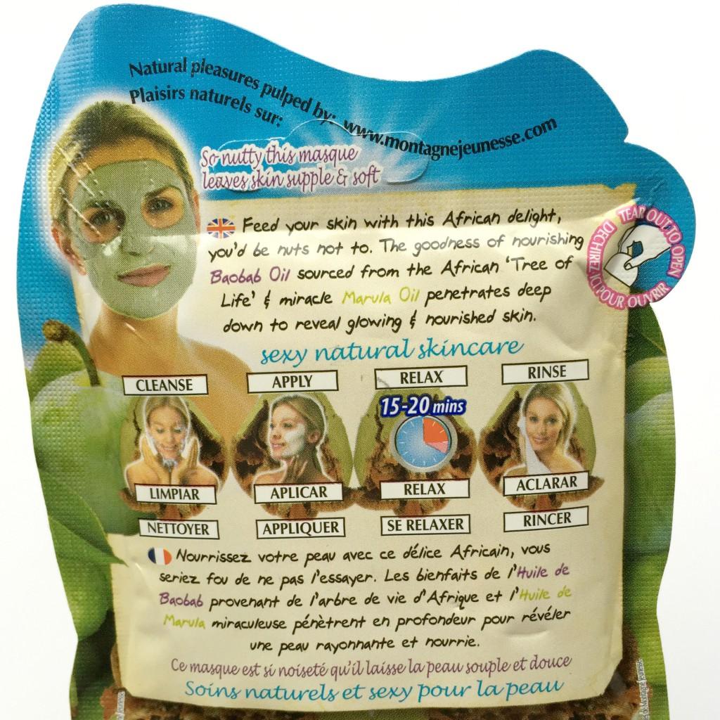 Montagne Jeunesse Nut Oil Face Mask - back
