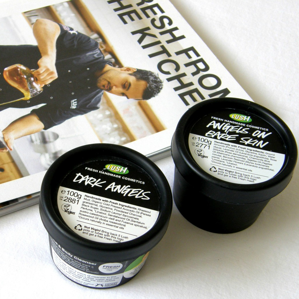 Lush Empties: Dark Angels and Angels on Bare Skin Cleanser