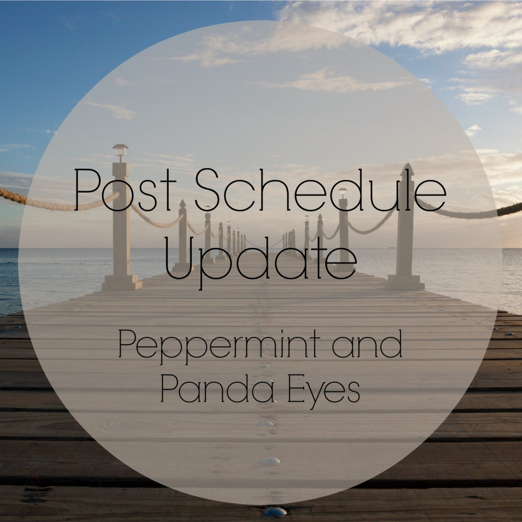 Post Schedule Update