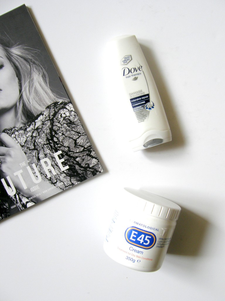 Summer Empties Dove Intensive Repair Conditioner E45 Cream