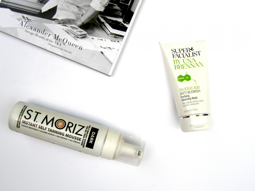 June Favourites Super Facialist Salicylic Acid Purifying Cleansing Wash St. Moritz Instant Self Tanning Mousse in Dark