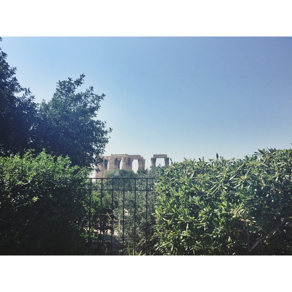 Greece Athens Temple of Olympian Zeus