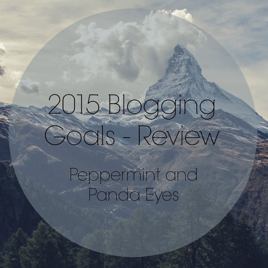 2015 Blogging Goals Review