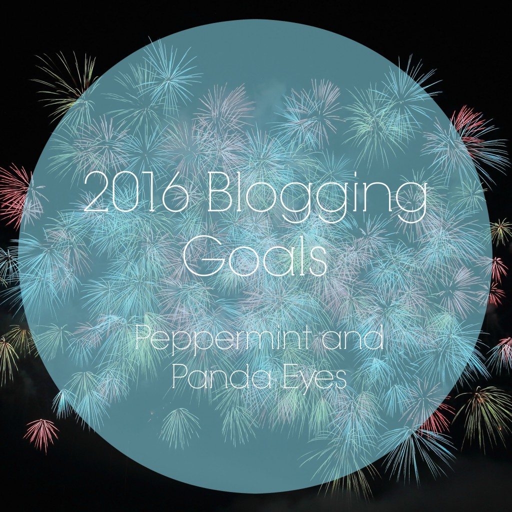 2016 Blogging Goals