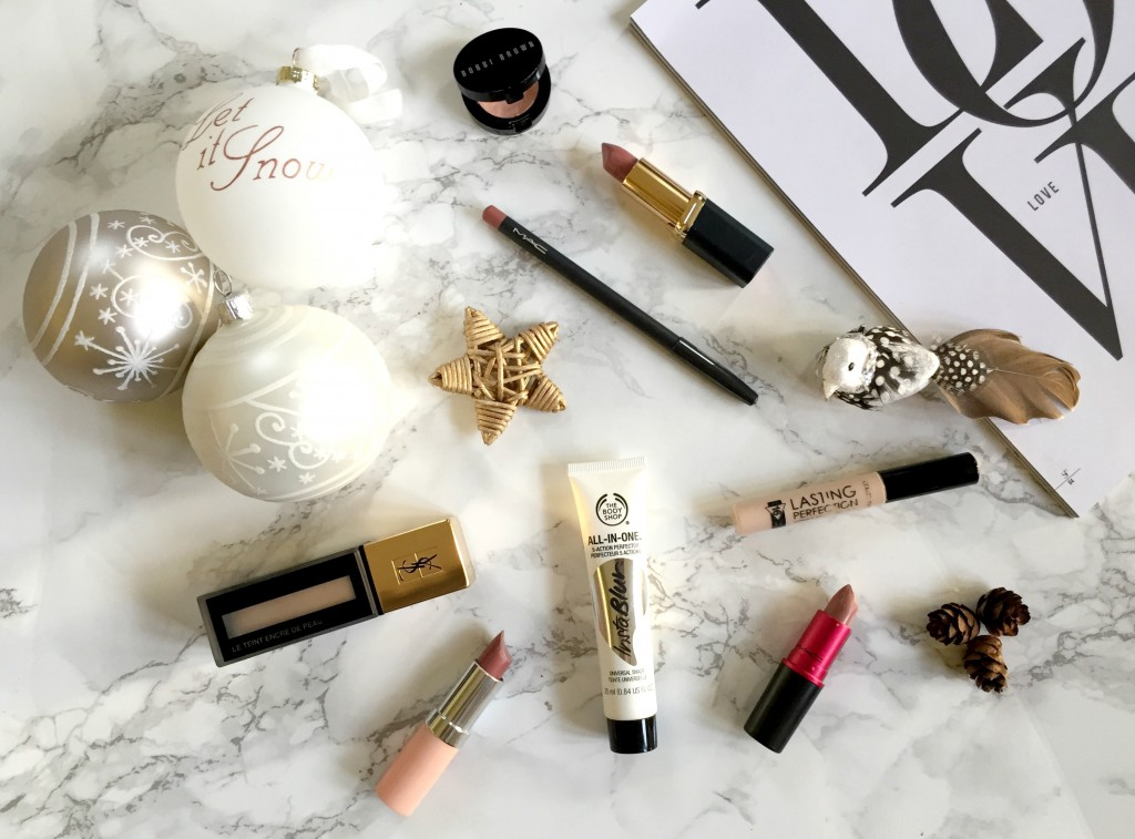 My Top Makeup Products 2015 Flatlay